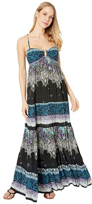 Free People Give A Little Maxi (Black) Women's Clothing