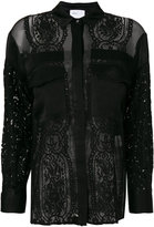 Isabelle Blanche sheer lace blouse