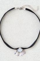 American Eagle Outfitters AE Black Velvet + Opal Charm Choker