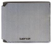 Lanvin Striped Leather Bifold Wallet