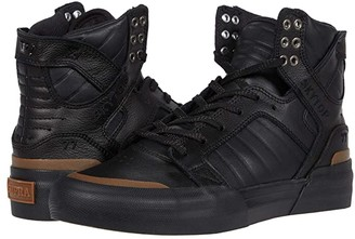 Supra Skytop 77 (Black/Black/Gum) Men's Shoes