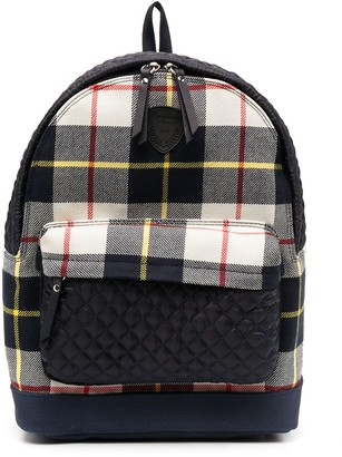 Bonpoint Check-Print Backpack