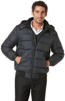 Perry Ellis Check Print Quilted Jacket