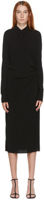 Helmut Lang Black Polo Dress