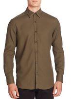 Ermenegildo Zegna Solid Button-Down Shirt