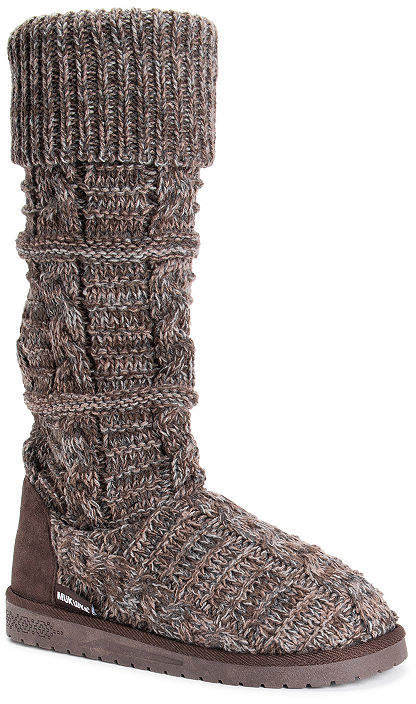 Muk Luks Womens Shelly Slouch Boots