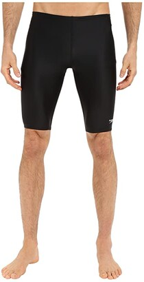 Speedo Powerflex Eco Solid Jammer (New Black) Men's Swimwear