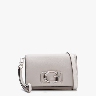 GUESS Annarita Taupe Textured Mini Cross Body Bag