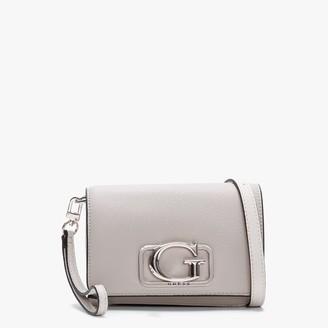 GUESS Annarita Taupe Textured Mini Cross Body Bag