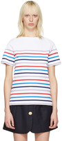 A.P.C. White Striped Yoyogi T-shirt