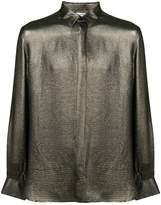 Saint Laurent metallic concealed shirt
