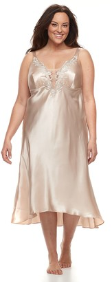 Flora Nikrooz Flora By Plus Size Flora by Stella Charmeuse Satin Nightgown