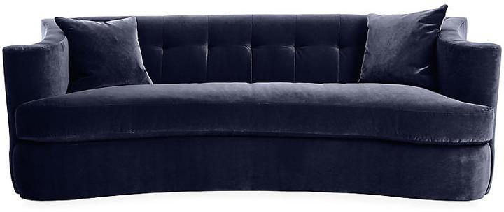 Maison Tufted Sofa - Navy Velvet - Lillian August