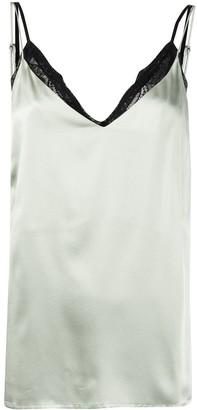 Anine Bing Sleeveless Silk Tank Top