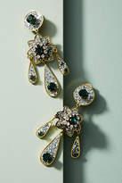 Shourouk Moon Flower Drop Earrings