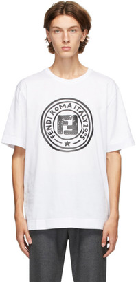 Fendi White Joshua Vides Edition Logo T-Shirt