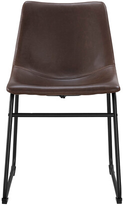 Hewson Set Of 2 Faux Leather Kitchen Dining Chairs