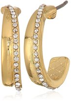 Laundry by Shelli Segal C Pave Hoop Earrings