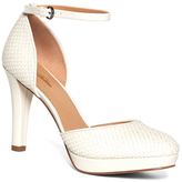 Brooks Brothers Woven Calfskin Ankle Strap Heels