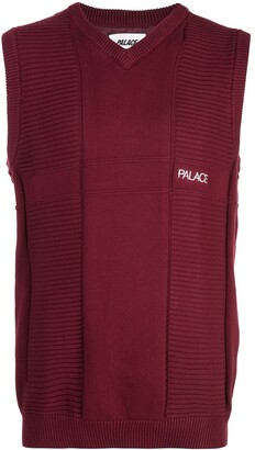 Palace short-sleeve knitted vest