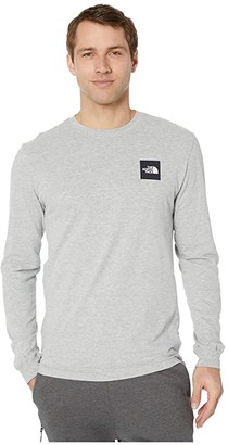 The North Face Long Sleeve Red Box T-Shirt (TNF Light Grey Heather 1) Men's T Shirt