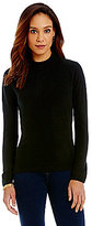 Nouveau Zip Back Mock-Neck Pullover Sweater