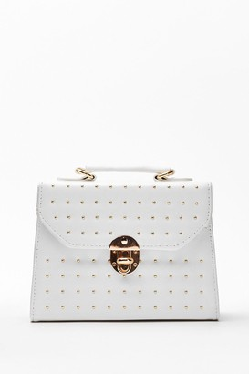 Nasty Gal Womens WANT Pin Pin Situation Studded Crossbody Bag - White