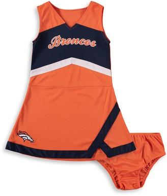 Outerstuff Girls Infant Orange/Navy Denver Broncos Cheer Captain Jumper Dress