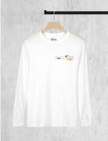 Stussy Colour Bar-print cotton-jersey top