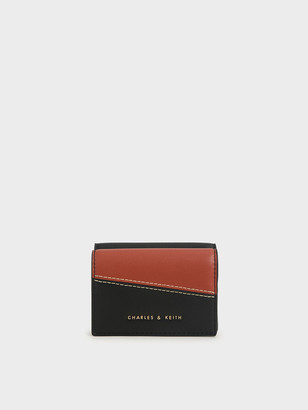 Charles & Keith Two-Tone Stitch-Trim Wallet