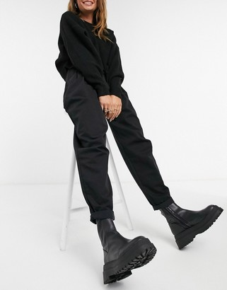 Pimkie relaxed tailored trousers in black