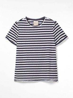 White Stuff Neo Fairtrade Jersey T-Shirt - Navy Stripe