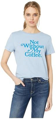 ban.do Not Without My Coffee Classic Tee (Light Blue) Women's T Shirt