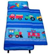 Olive Kids Trains, Planes 100% Cotton Nap Mat in Blue