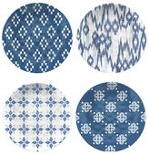 Eddingtons Vasaio Coupe Melamine Plates, Set of 4, Blue