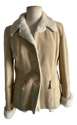 Nicole Farhi Beige Shearling Leather jackets