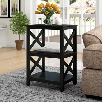Winston Porter Minnick End Table with Storage Color: Blue