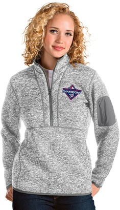Women's Antigua Washington Nationals Fortune Half-Zip Pullover