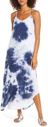 Fraiche by J Tie Dye A-Line Maxi Dress