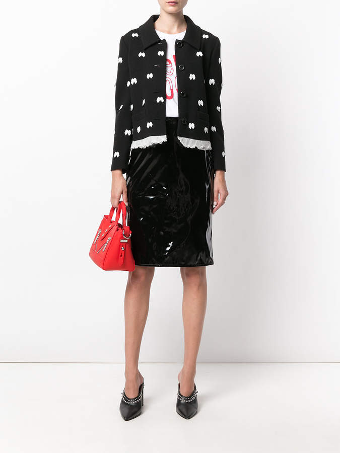 Moschino bow detail jacket