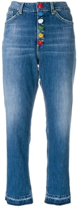 Dondup High-Waist Cropped Jeans