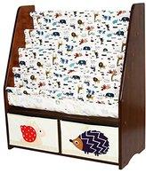 MallBoo Solid Wood Kids Toy Sling Bookcase Book Rack Corner Bookshelf (Snail Hedgehog(A))