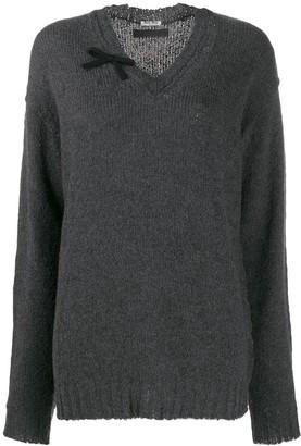 Miu Miu oversized v-neck jumper