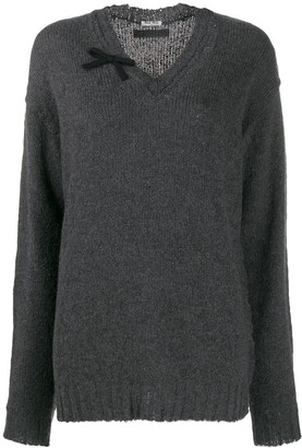 Miu Miu Oversized V-Neck Jumper