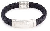 John Hardy Silver hammered charm braided leather bracelet