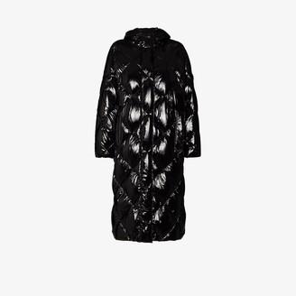 Stand Studio Farrah patent quilted coat