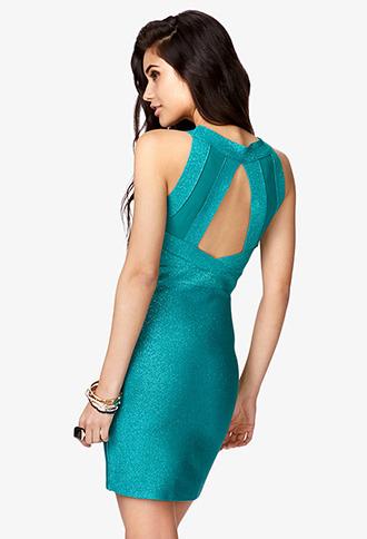 Forever 21 Metallic-Blend Mini Bodycon Dress