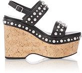 Saint Laurent Women's Studded Candy Slingback Platform Sandals