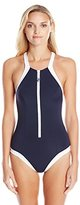 Seafolly Women's Block Party High-Neck One-Piece Swimsuit