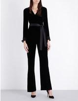 Diane von Furstenberg Her velvet jumpsuit